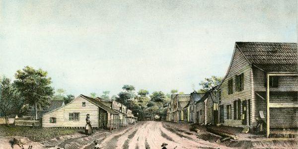 Tallahassee Street Scene 1842